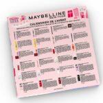 calendrier de lavent maybelline 2021 contenu